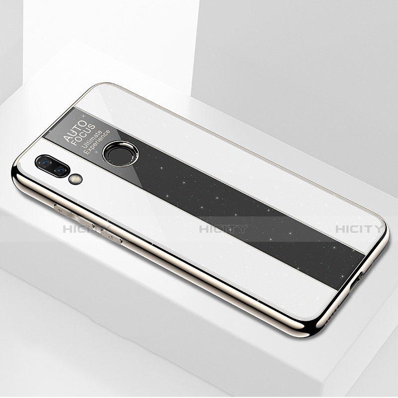 Huawei Nova 3e用ハイブリットバンパーケース プラスチック 鏡面 カバー M03 ファーウェイ ホワイト