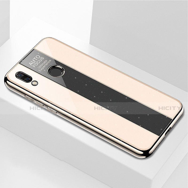 Huawei Nova 3e用ハイブリットバンパーケース プラスチック 鏡面 カバー M03 ファーウェイ ゴールド