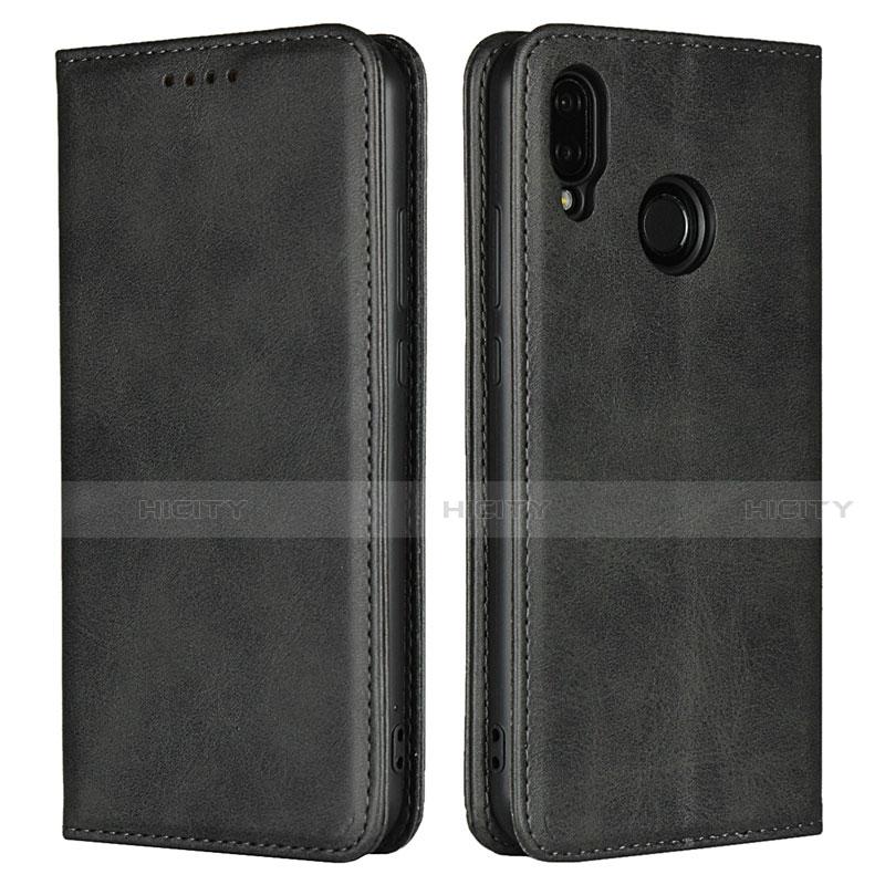 Huawei Nova 3e用手帳型 レザーケース スタンド カバー L06 ファーウェイ ブラック
