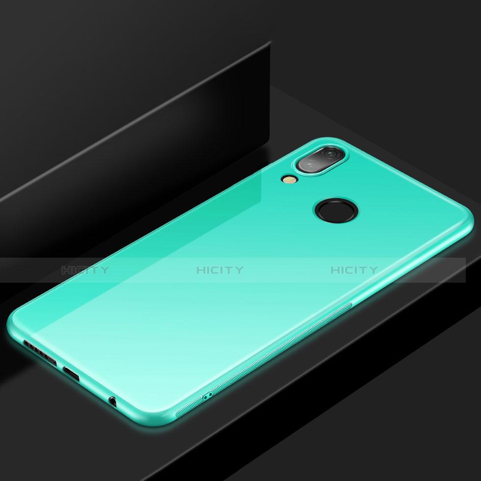 Huawei Nova 3e用極薄ソフトケース シリコンケース 耐衝撃 全面保護 S05 ファーウェイ シアン