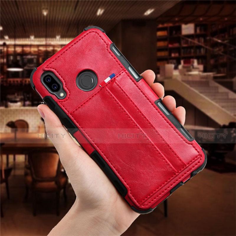 Huawei Nova 3e用手帳型 レザーケース スタンド カバー L01 ファーウェイ