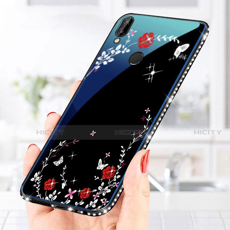 Huawei Nova 3e用ハイブリットバンパーケース プラスチック パターン 鏡面 カバー ファーウェイ
