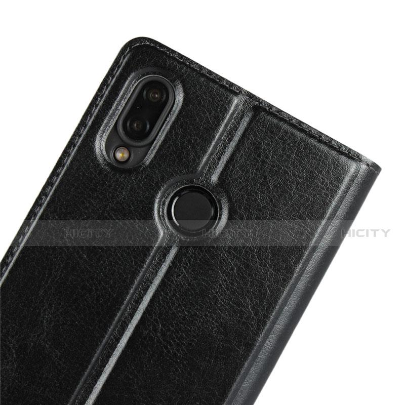 Huawei Nova 3e用手帳型 レザーケース スタンド カバー L03 ファーウェイ