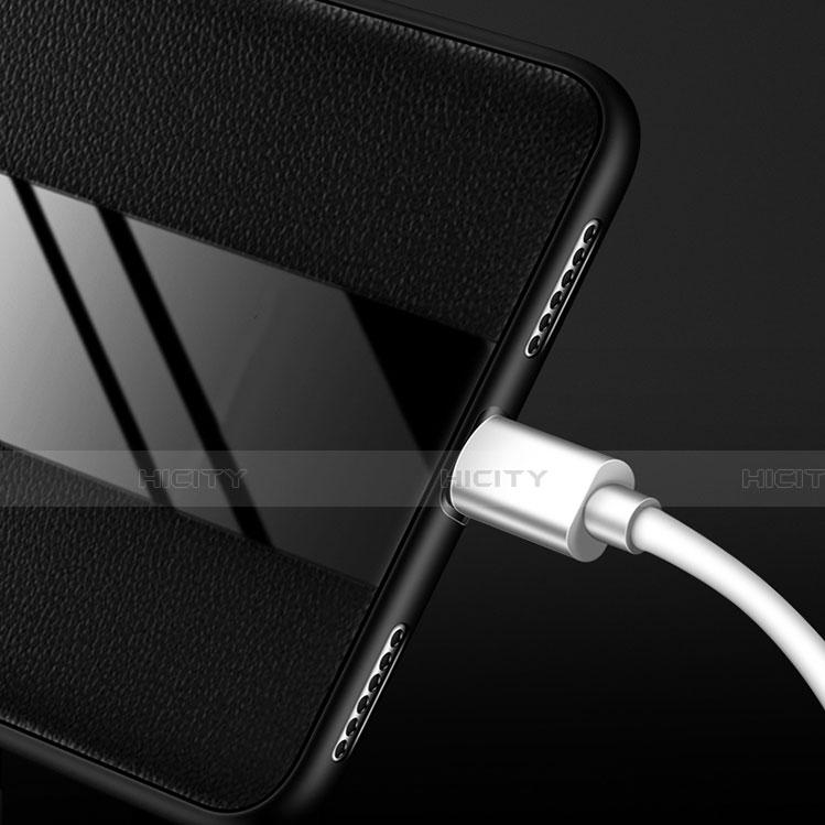 Huawei Nova 3e用シリコンケース ソフトタッチラバー レザー柄 L01 ファーウェイ