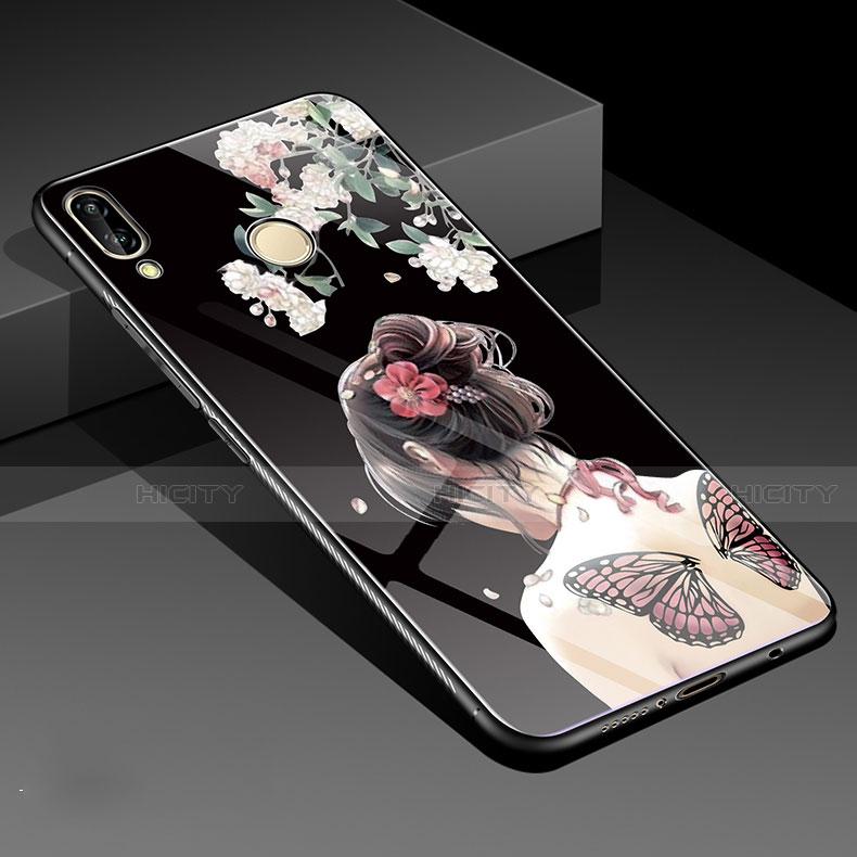 Huawei Nova 3e用ハイブリットバンパーケース プラスチック 鏡面 花 カバー S01 ファーウェイ
