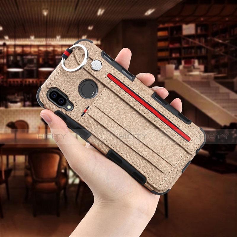 Huawei Nova 3e用手帳型 布 スタンド ファーウェイ