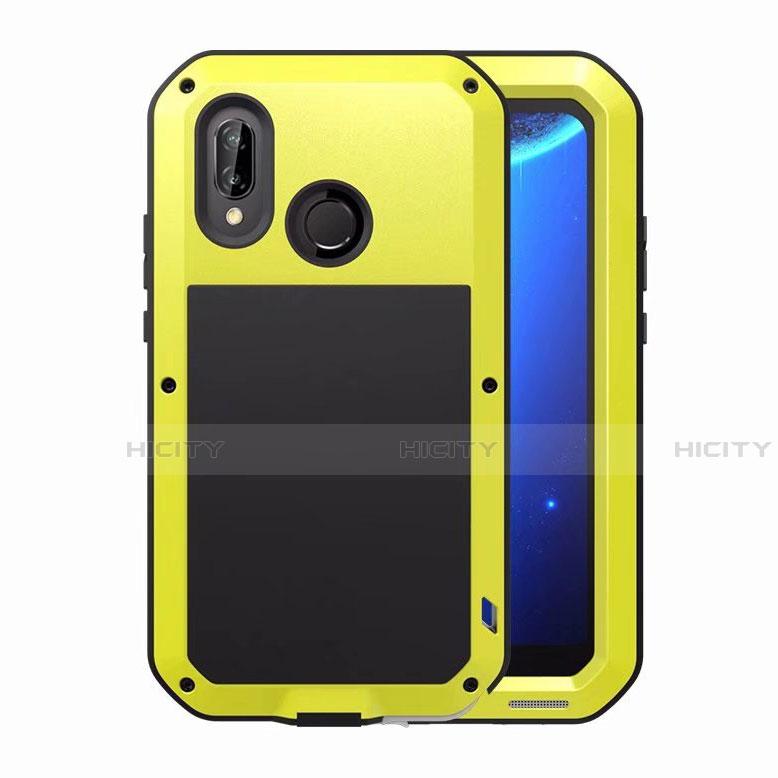 Huawei Nova 3e用ケース 高級感 手触り良い アルミメタル 製の金属製 バンパー 鏡面 カバー ファーウェイ