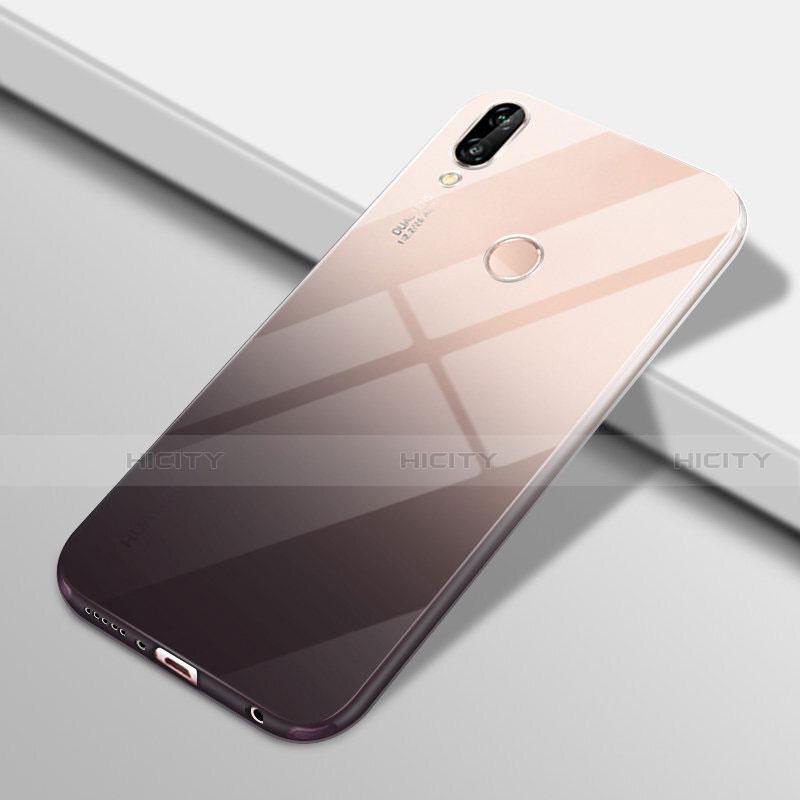 Huawei Nova 3e用極薄ソフトケース グラデーション 勾配色 クリア透明 G01 ファーウェイ