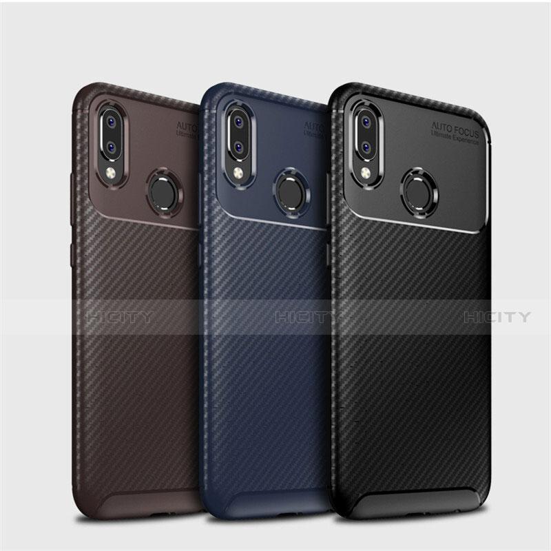 Huawei Nova 3e用シリコンケース ソフトタッチラバー ツイル カバー ファーウェイ