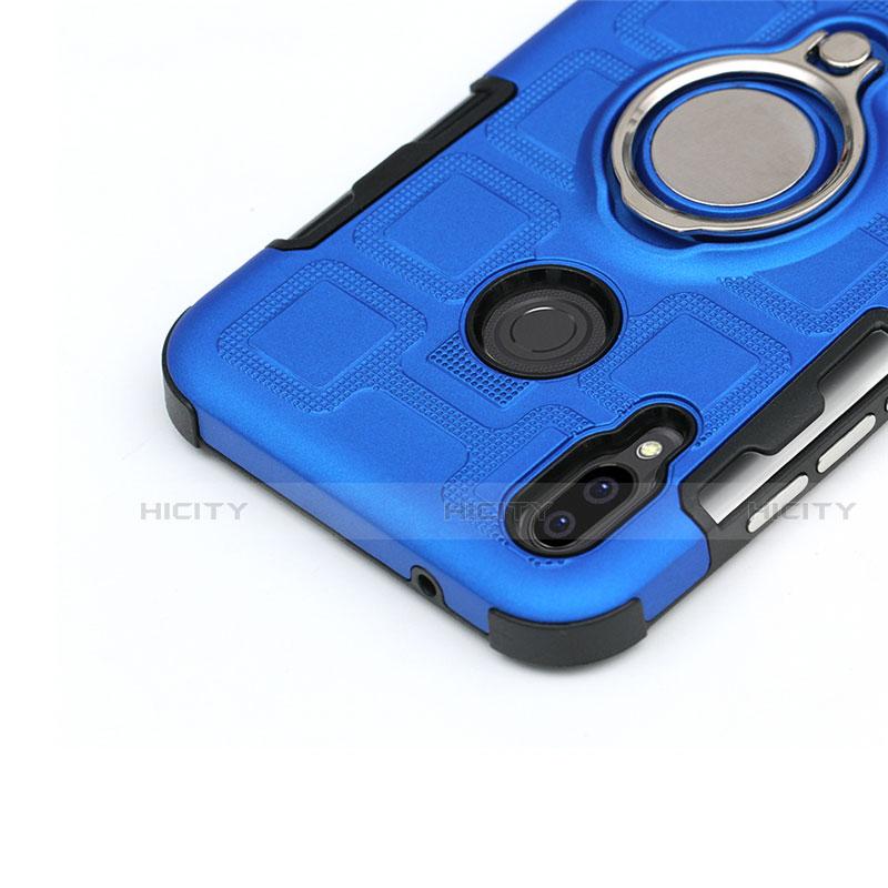 Huawei Nova 3e用ハイブリットバンパーケース プラスチック アンド指輪 兼シリコーン カバー S01 ファーウェイ