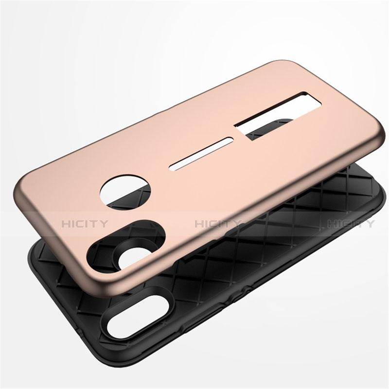 Huawei Nova 3e用ハイブリットバンパーケース スタンド プラスチック 兼シリコーン カバー A01 ファーウェイ