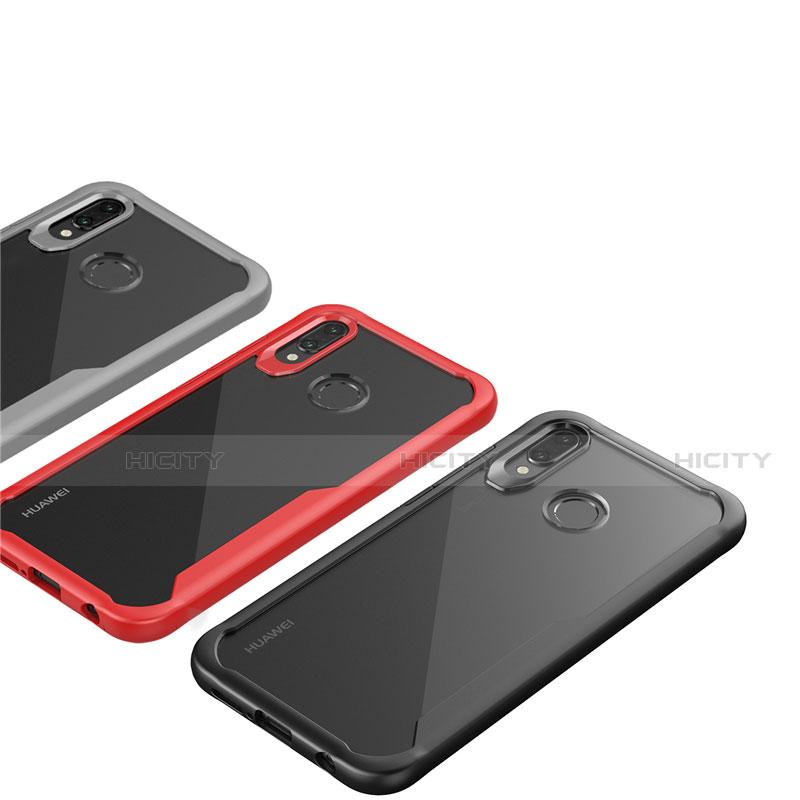 Huawei Nova 3e用ハイブリットバンパーケース クリア透明 プラスチック 鏡面 カバー M01 ファーウェイ