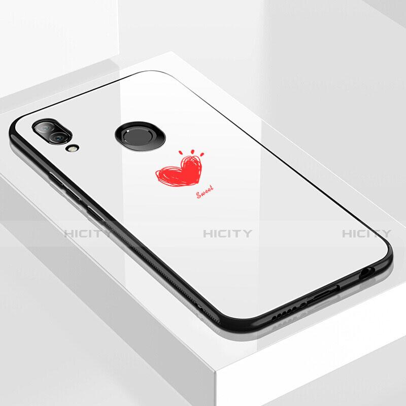 Huawei Nova 3e用ハイブリットバンパーケース プラスチック パターン 鏡面 カバー S04 ファーウェイ