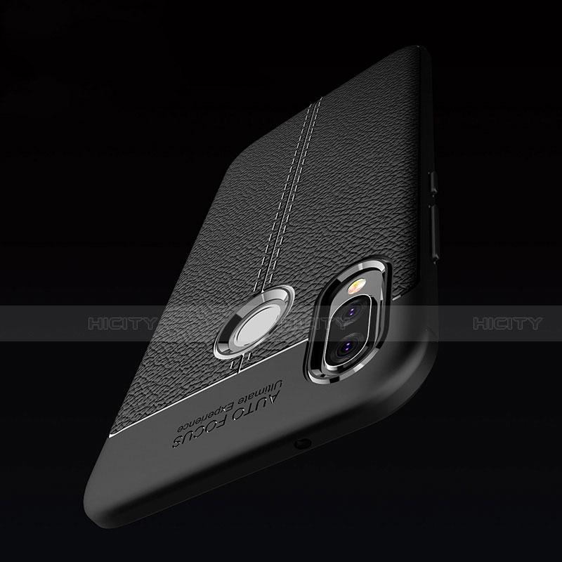 Huawei Nova 3e用シリコンケース ソフトタッチラバー レザー柄 S02 ファーウェイ