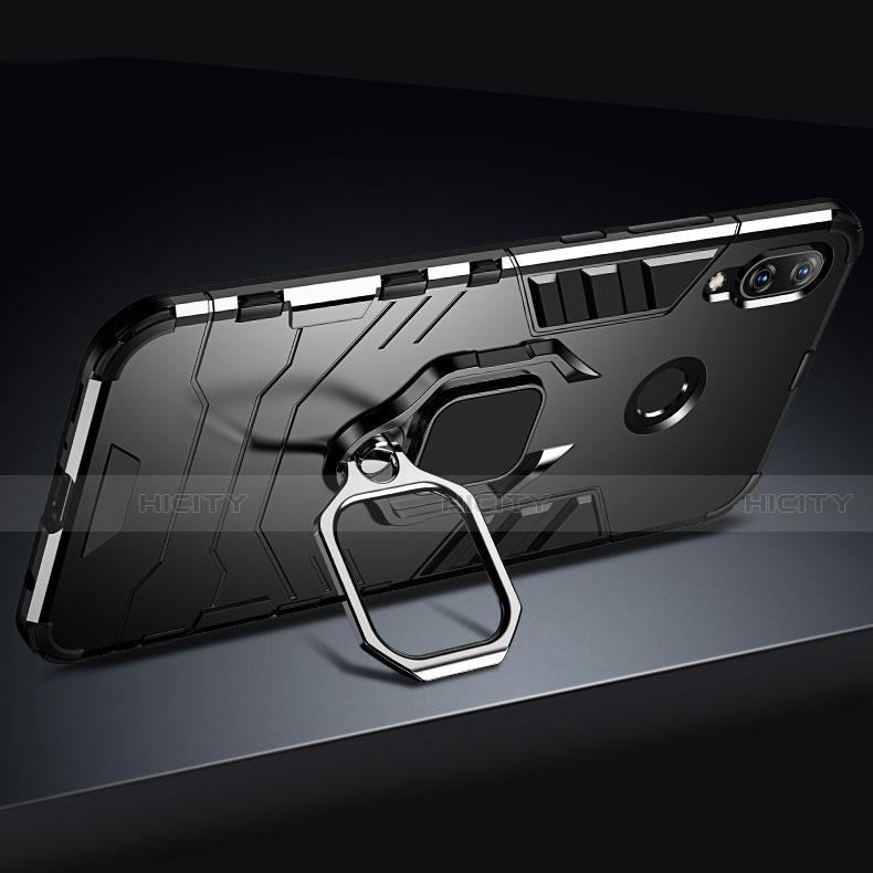 Huawei Nova 3e用ハイブリットバンパーケース スタンド プラスチック 兼シリコーン カバー A03 ファーウェイ