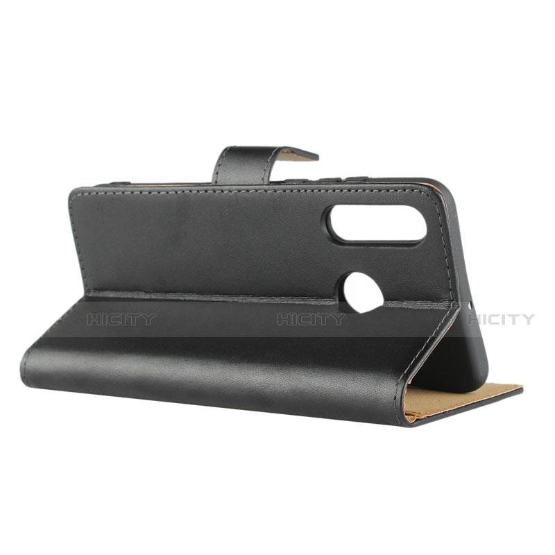 Huawei Nova 4e用手帳型 レザーケース スタンド L02 ファーウェイ ブラック
