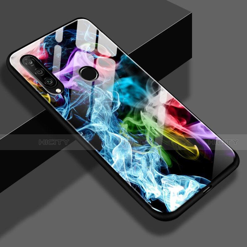 Huawei Nova 4e用ハイブリットバンパーケース プラスチック パターン 鏡面 S01 ファーウェイ マルチカラー