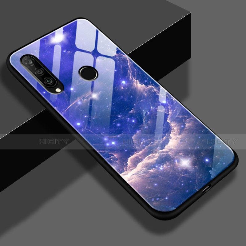 Huawei Nova 4e用ハイブリットバンパーケース プラスチック 星空 鏡面 S01 ファーウェイ ネイビー