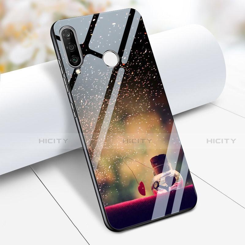 Huawei Nova 4e用ハイブリットバンパーケース プラスチック パターン 鏡面 S03 ファーウェイ マルチカラー