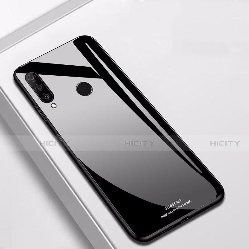 Huawei Nova 4e用ハイブリットバンパーケース プラスチック 鏡面 カバー ファーウェイ ブラック