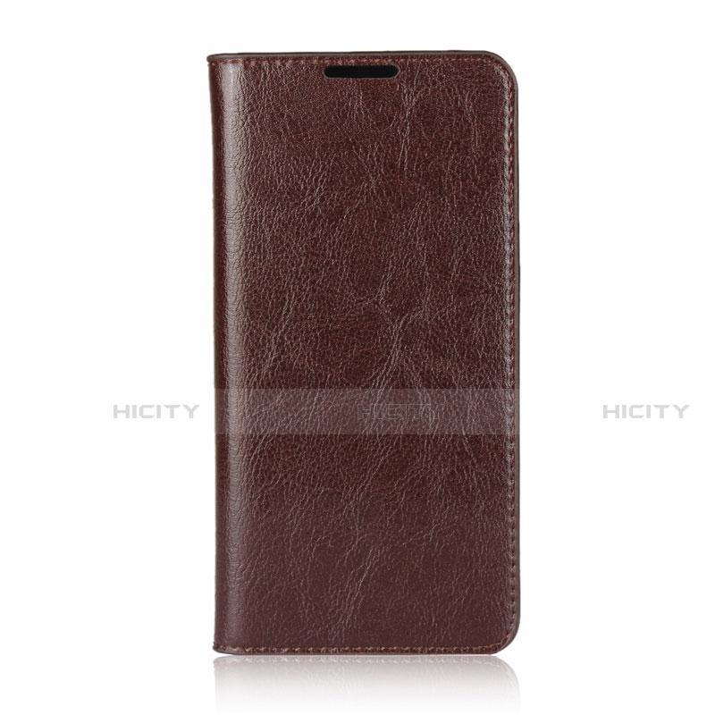 Huawei Nova 4e用手帳型 レザーケース スタンド カバー L05 ファーウェイ ブラウン