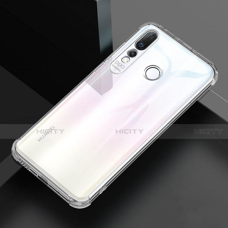 Huawei Nova 4e用極薄ソフトケース シリコンケース 耐衝撃 全面保護 クリア透明 H02 ファーウェイ