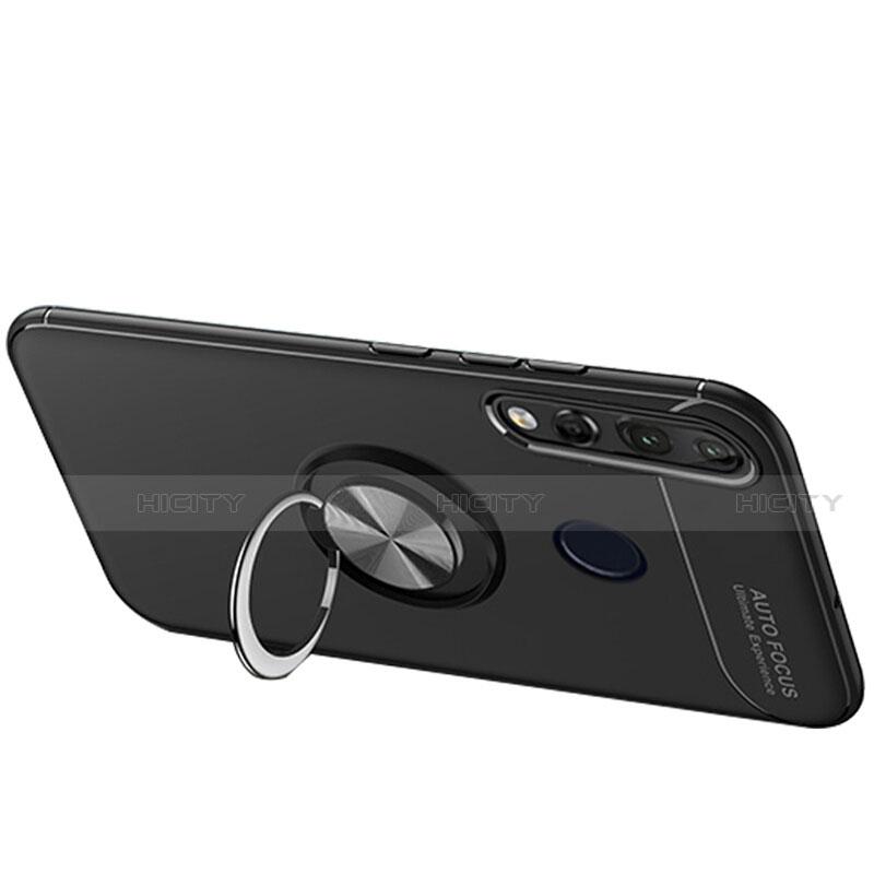 Huawei Nova 4e用極薄ソフトケース シリコンケース 耐衝撃 全面保護 アンド指輪 マグネット式 バンパー ファーウェイ