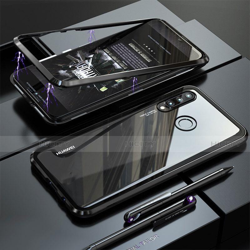 Huawei Nova 4e用ケース 高級感 手触り良い アルミメタル 製の金属製 バンパー 鏡面 カバー ファーウェイ