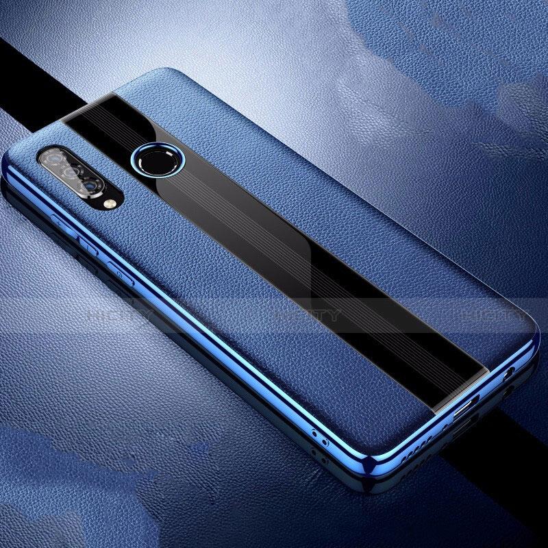 Huawei Nova 4e用シリコンケース ソフトタッチラバー レザー柄 ファーウェイ