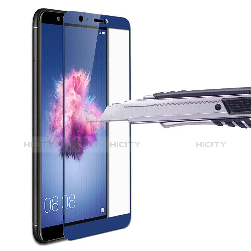 Huawei P Smart用強化ガラス フル液晶保護フィルム ファーウェイ ネイビー