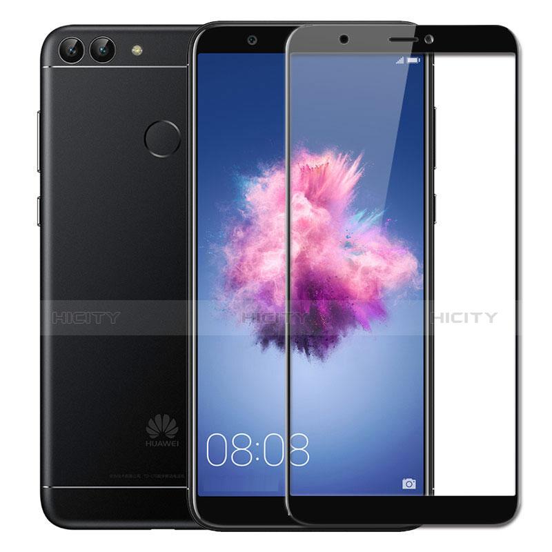 Huawei P Smart用強化ガラス フル液晶保護フィルム ファーウェイ ブラック