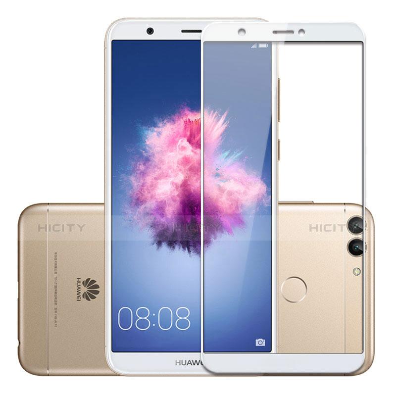 Huawei P Smart用強化ガラス フル液晶保護フィルム ファーウェイ ホワイト