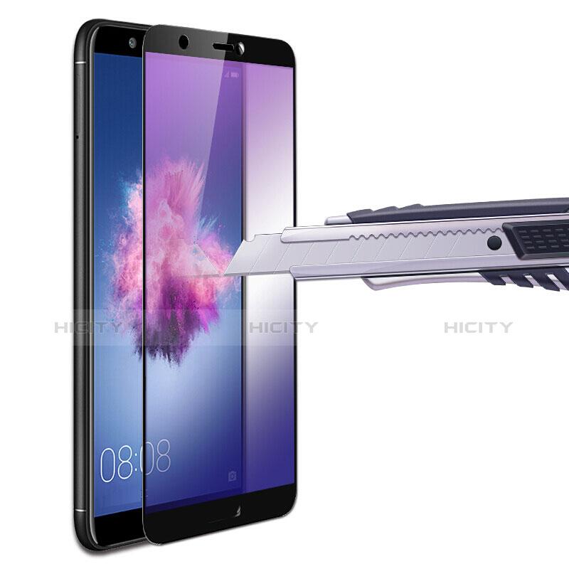 Huawei P Smart用強化ガラス フル液晶保護フィルム F02 ファーウェイ ブラック