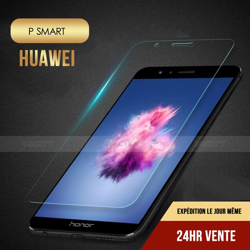 Huawei P Smart用強化ガラス 液晶保護フィルム T01 ファーウェイ クリア