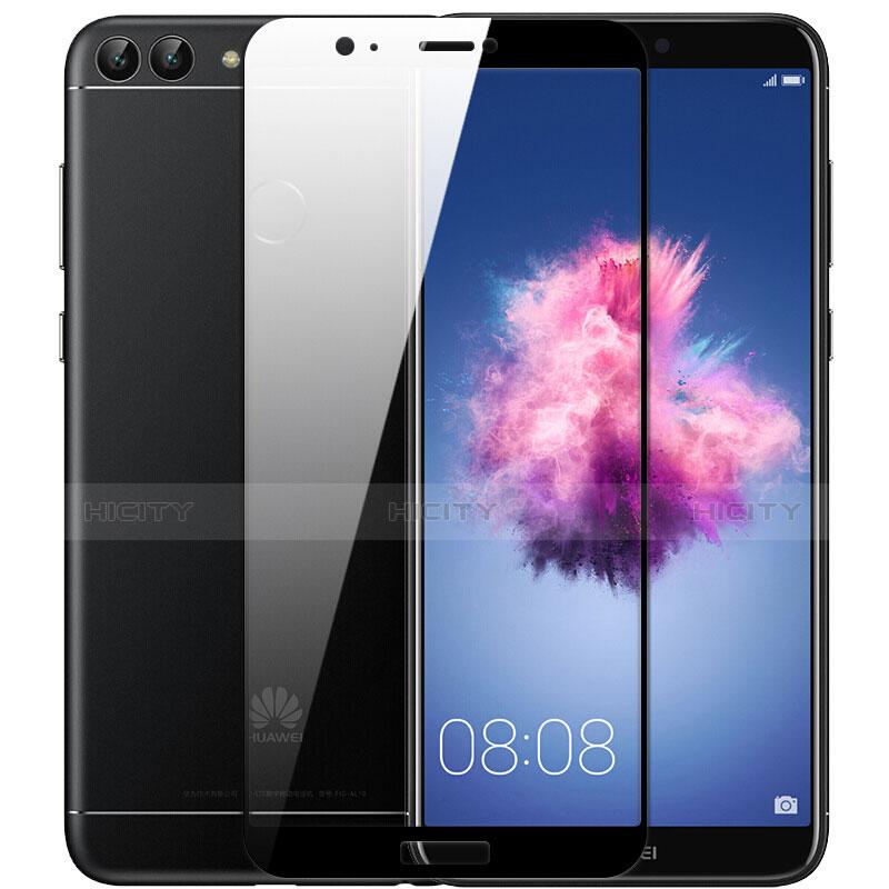Huawei P Smart用強化ガラス フル液晶保護フィルム F04 ファーウェイ ブラック