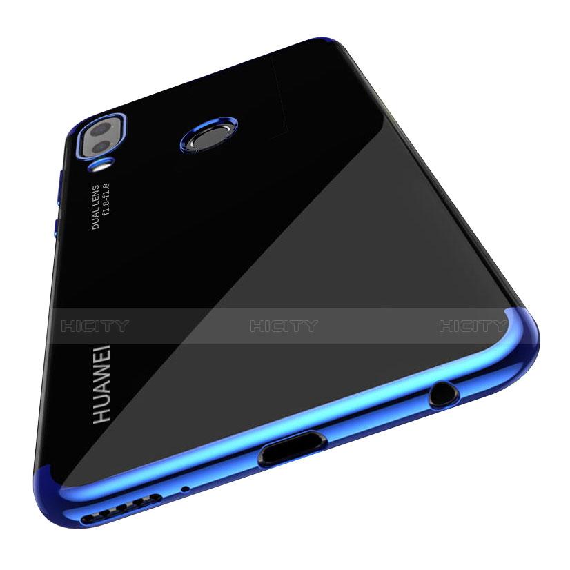 Huawei P20 Lite用極薄ソフトケース シリコンケース 耐衝撃 全面保護 クリア透明 T03 ファーウェイ ネイビー