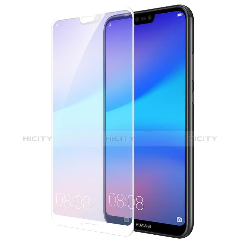Huawei P20 Lite用強化ガラス フル液晶保護フィルム ファーウェイ ホワイト