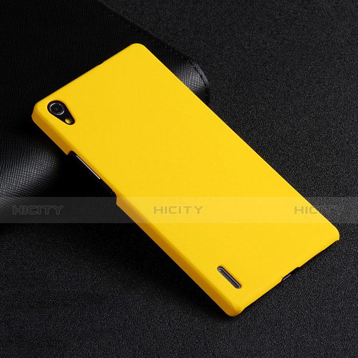 Huawei P7 Dual SIM用ハードケース プラスチック 質感もマット ファーウェイ イエロー