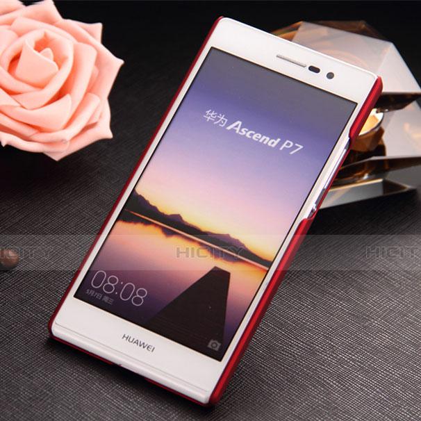 Huawei P7 Dual SIM用ハードケース プラスチック 質感もマット ファーウェイ レッド