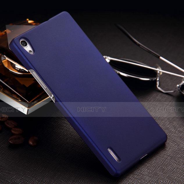 Huawei P7 Dual SIM用ハードケース プラスチック 質感もマット ファーウェイ ネイビー