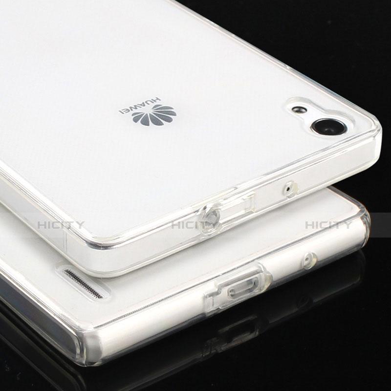 Huawei P7 Dual SIM用極薄ソフトケース シリコンケース 耐衝撃 全面保護 クリア透明 T02 ファーウェイ クリア