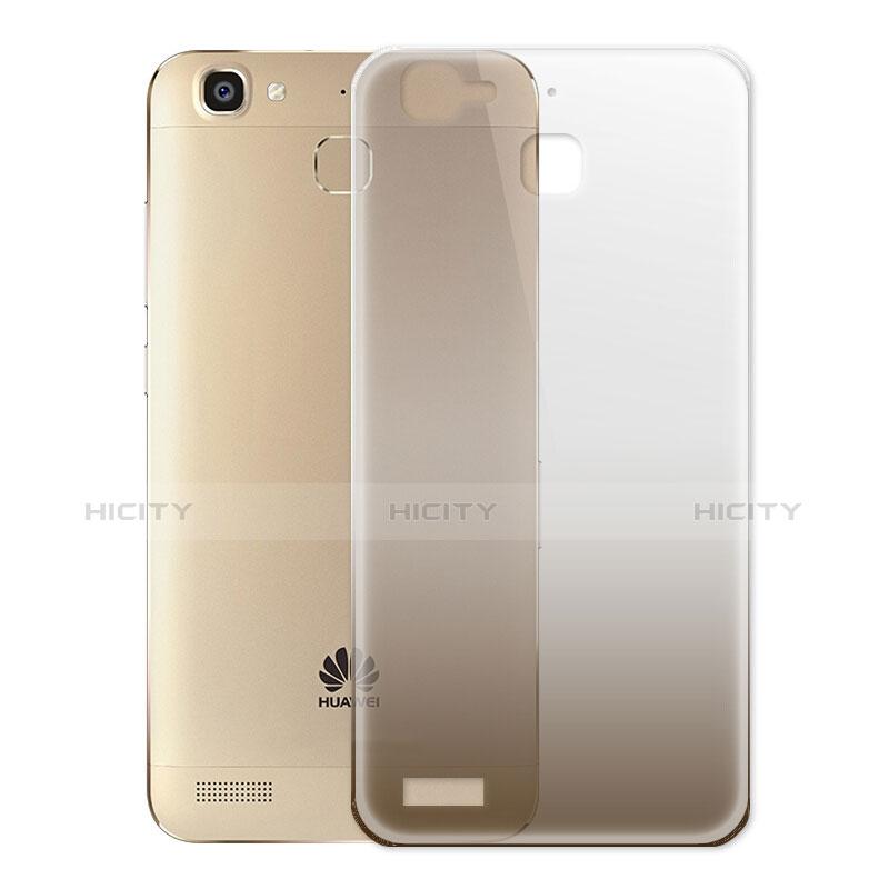 Huawei P8 Lite Smart用極薄ソフトケース グラデーション 勾配色 クリア透明 ファーウェイ グレー