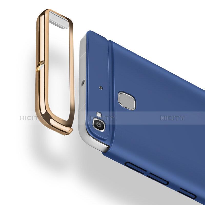 Huawei P8 Lite Smart用ケース 高級感 手触り良い アルミメタル 製の金属製 ファーウェイ ネイビー