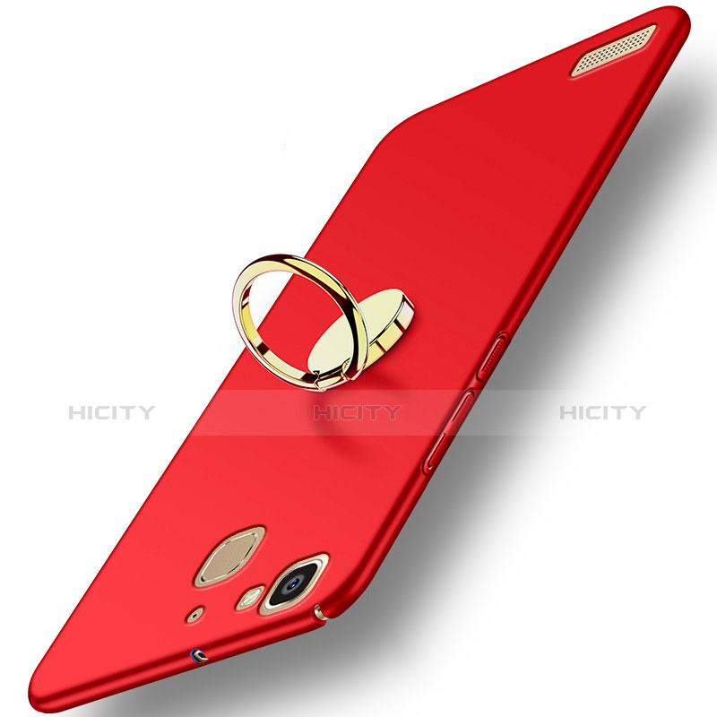 Huawei P8 Lite Smart用ハードケース プラスチック 質感もマット アンド指輪 A02 ファーウェイ レッド