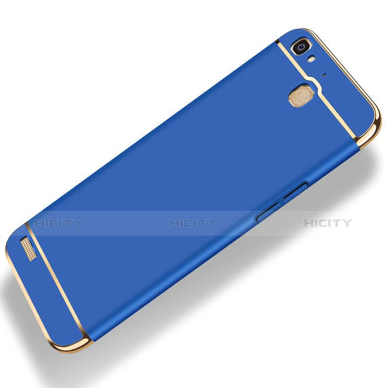 Huawei P8 Lite Smart用ケース 高級感 手触り良い メタル兼プラスチック バンパー 亦 ひも ファーウェイ
