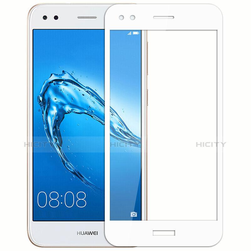 Huawei P9 Lite Mini用強化ガラス フル液晶保護フィルム ファーウェイ ホワイト