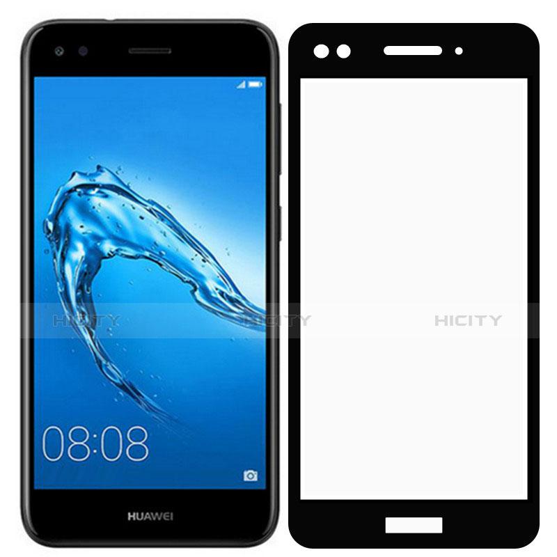 Huawei P9 Lite Mini用強化ガラス フル液晶保護フィルム F02 ファーウェイ ブラック
