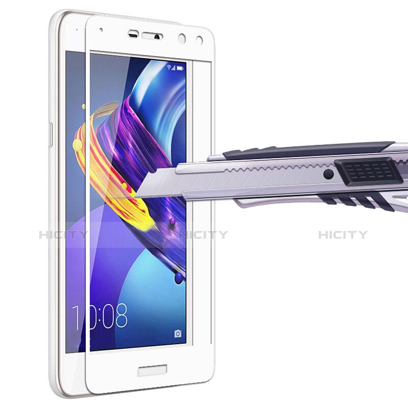Huawei Y5 (2017)用強化ガラス フル液晶保護フィルム ファーウェイ ホワイト
