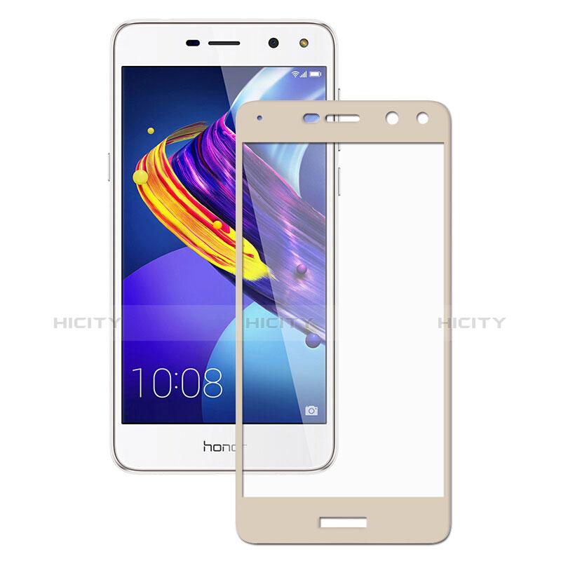 Huawei Y6 (2017)用強化ガラス フル液晶保護フィルム ファーウェイ ゴールド