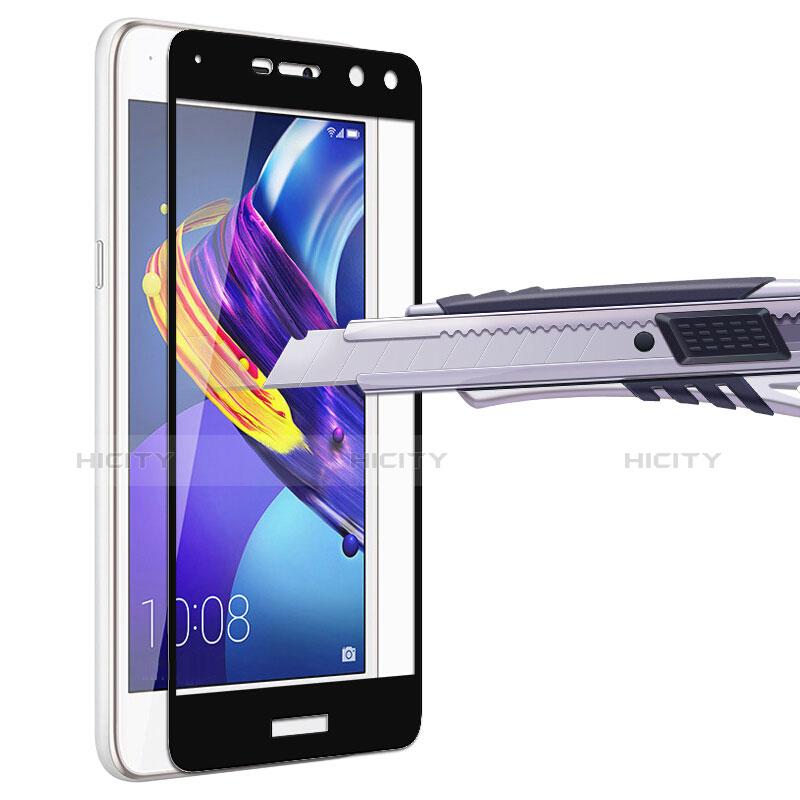 Huawei Y6 (2017)用強化ガラス フル液晶保護フィルム ファーウェイ ブラック